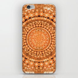 Boho Pumpkin Spice Mandala iPhone Skin