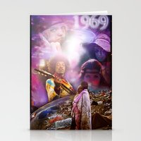 woodstock Stationery Cards featuring Woodstock 1969 by ZiggyChristenson