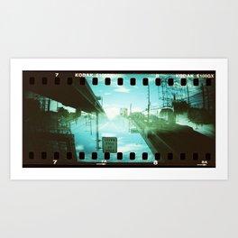 Horizontal Split (2) Art Print