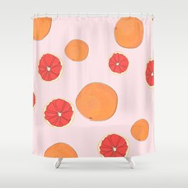 PINK GRAPEFRUIT Shower Curtain