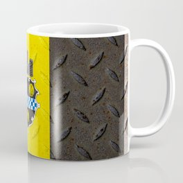 Pittsburgh Pennsylvania Steel City Flag On Metal Background Print Coffee Mug