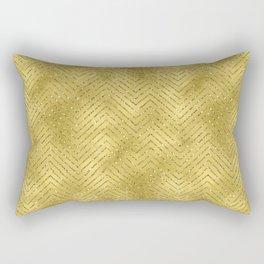 Gold ,Glitter and Chevrons Rectangular Pillow