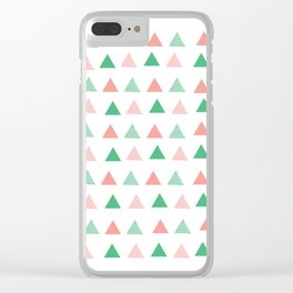 Bouncy Triangles // Pattern Art Clear iPhone Case
