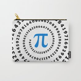 Pi, π, spiral, science, mathematics, math, irrational number, sequence, Carry-All Pouch