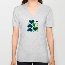 Heart of greenery Unisex V-Neck