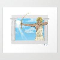 apollo Art Prints featuring Apollo by Khrow