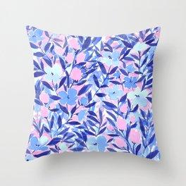 Nonchalant Blue Throw Pillow