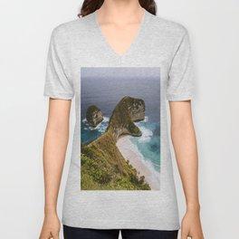 Beached Cliffs Unisex V-Neck