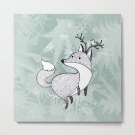 foxmas Metal Print