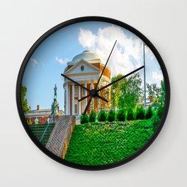 Charlottesville Virginia State Flag Campus Print Wall Clock