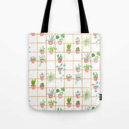 Watercolor Pot Plants Tote Bag