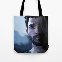 tyler spangler Tote Bags featuring tyler hoechlin by Finduilas