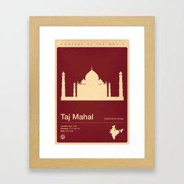 Taj Mahal, India Framed Art Print