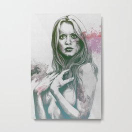 Gloria: Purple Metal Print