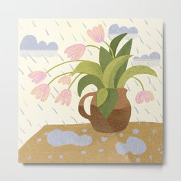 Rain Saves from Burning Out Metal Print