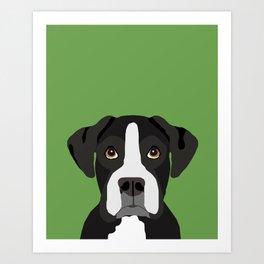Boxer pet portrait cute dog lover rescue dog lover Boxers portrait dog breeds Art Print