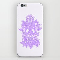 henna iPhone & iPod Skins featuring Purple Henna by haleyivers