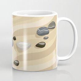 Zen Garden Sand Stones and Rake Coffee Mug
