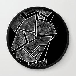 Pockets - Inverted B&W Wall Clock