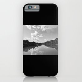 Cloudy sky view from airplane iPhone Case