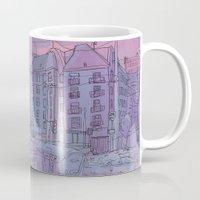 budapest Mugs featuring Budapest through pencil by Zsolt Vidak