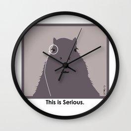 Professor Capybara III Wall Clock