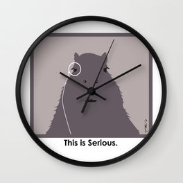 Professor Capybara III Wall Clock