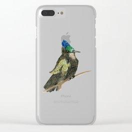 Antillean Crested Hummingbird Clear iPhone Case