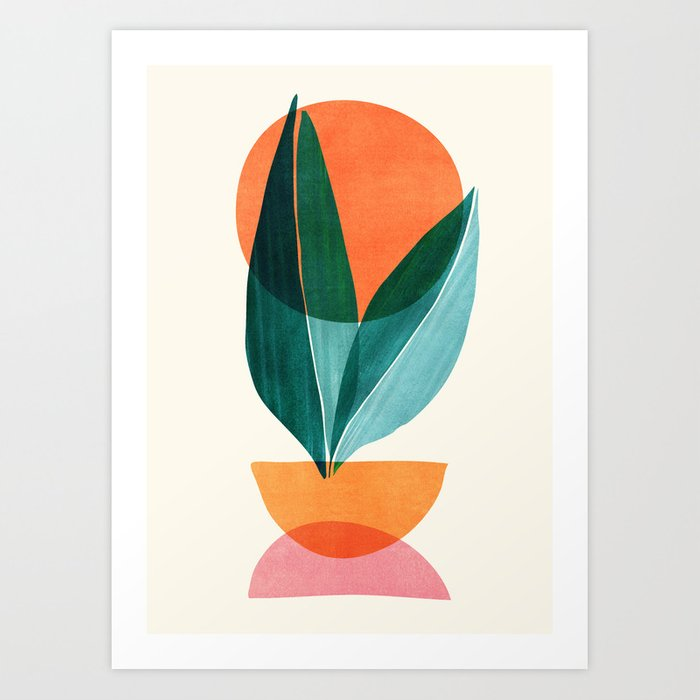 Nature Stack II / Abstract Shapes Illustration Art Print