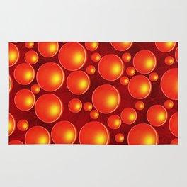Orange bubbles Rug