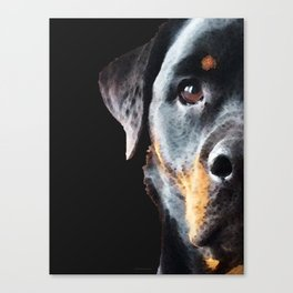 Rottie Love - Rottweiler Art By Sharon Cummings Canvas Print