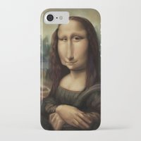 mona lisa iPhone & iPod Cases featuring Mona Lisa by Alexander Novoseltsev