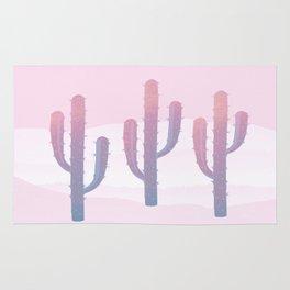 Dreamy Pastel Cacti Design Rug