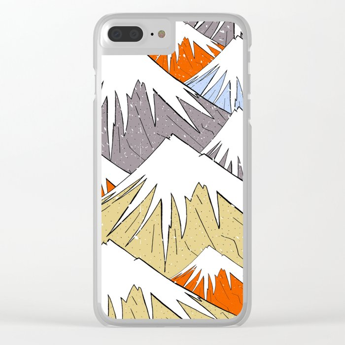 Away in the mountains Clear iPhone Case