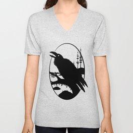 Raven Silhouette IV Unisex V-Neck