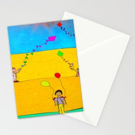 Children on the Beach Stationery Cards