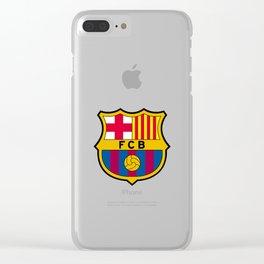 FCB futbol club barcelona Clear iPhone Case