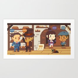 Phoenix Wright VS Professor Layton: Bakery Art Print