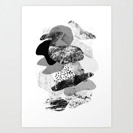 rock balancing Art Print