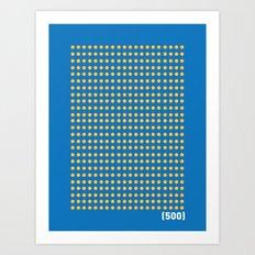 (500) Art Print