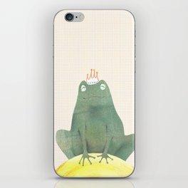 Frog prince iPhone Skin