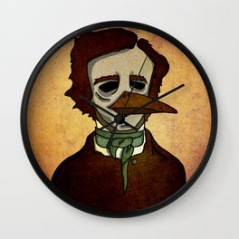 Prophets of Fiction - Edgar Allan Poe /The Raven Wall Clock