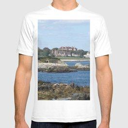 Newport Cliff Walk - Newport Rhode Island by Jeanpaul Ferro T-shirt