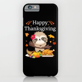 Funny Sloth Gift Birthday iPhone Case