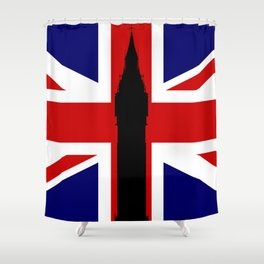 Union Flag Big Ben Shower Curtain