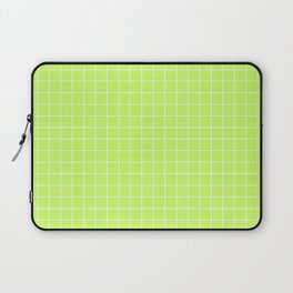 Lime Green with White Grid Laptop Sleeve