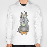 lesbian Hoodies featuring lesbian witches by ElenaM