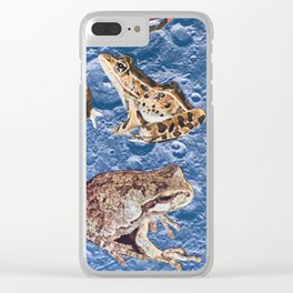 Eleven Frogs on Moon [Cecilia Lee] Clear iPhone Case