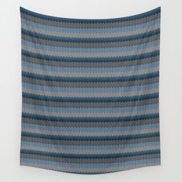 Blue Winter Wool - Knitting Delight Wall Tapestry