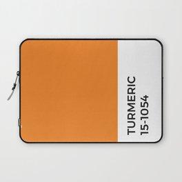 Turmeric Pantone Chip • Spice •Orange •Food Art • Design • Graphics • Minimalism • Classic Print Laptop Sleeve